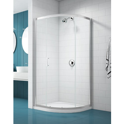 Merlyn NIX  Merlyn NIX Sliding 1 Door Quadrant Shower Enclosure 900 x 900mm - 45383 - from Toolstation
