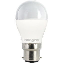 Integral LED Integral LED Ball Frosted Dimmable Lamp 6.2W BC (B22d) 470lm - 45385 - from Toolstation