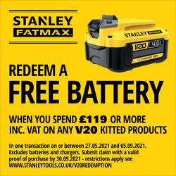Stanley FatMax V20 18V Cordless Power Cleaner