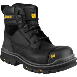 CAT Caterpillar Gravel Safety Boots Black Size 8 - 45436 - from Toolstation