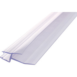 Replacement Bath Screen Seal Clear 1000mm 6mm x 23mm - 45535 - from Toolstation