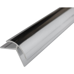 Mermaid Mermaid Acrylic Polished Silver Shower Wall Panel Trims External Corner 2440mm - 45564 - from Toolstation