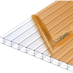 Axiome Axiome 16mm Polycarbonate Clear Triplewall Sheet 1000 x 2500mm - 45585 - from Toolstation