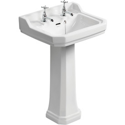 Ideal Standard Ideal Standard Waverley Classic Basin & Pedestal Pack  - 45604 - from Toolstation