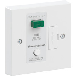 SafetySure RCD Spur White 1 Gang 13A 30mA - 45636 - from Toolstation