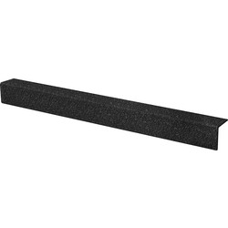 Blue Diamond Anti Slip Stair Nosing 55 x 55mm x 1m Black - 45992 - from Toolstation