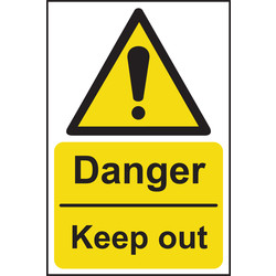 Hazard Safety Sign Danger, Keep Out 200x300 - 46069 - from Toolstation