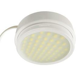 LED 240V 4W Mains Round Under Cupboard Light LED4WH 200lm - 46100 - from Toolstation