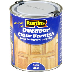 Rustins Rustins Quick Dry Outdoor Clear Varnish Satin 500ml - 46192 - from Toolstation