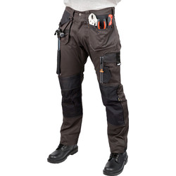 "Scruffs Scruffs 3D Trade Trousers 30"" R Graphite - 46207 - from Toolstation"