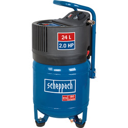 Scheppach Scheppach HC24V 2.0 HP 24L Oil-Free Vertical Air Compressor - 10 bar 230V - 46237 - from Toolstation