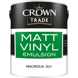 Crown Trade Crown Trade Vinyl Matt Emulsion Paint 5L Magnolia - 46311 - from Toolstation