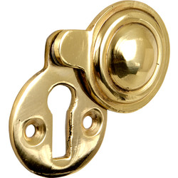 Eclipse Ironmongery Victorian Covered Escutcheon Brass - 46412 - from Toolstation
