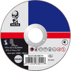 Norton Metal Cutting Disc 115 x 2.5 x 22mm - 46420 - from Toolstation