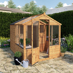 Mercia Mercia Traditional Apex Greenhouse Combi Shed 8' x 6' - 46552 - from Toolstation
