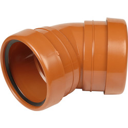 Aquaflow Double Socket Bend 110mm 45° - 46588 - from Toolstation
