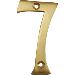 Brass Numeral 75mm 7