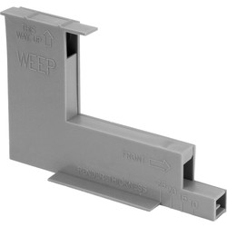 Micro Wall / Weep Ventilator Grey - 46737 - from Toolstation