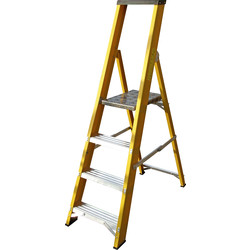 Lyte Ladders Lyte Heavy Duty Fibreglass Platform Step Ladder 4 Tread, Closed Length 1.56m - 46774 - from Toolstation
