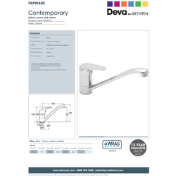 Deva Adore Mono Mixer Kitchen Tap