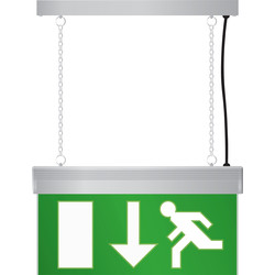 LED Emergency Exit Sign Light Matt Silver Effect - 46794 - from Toolstation