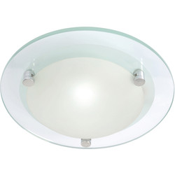 Spa Lighting Diablo G9 LED Glass Flush 240mm 1 x 2.5W 250lm - 46797 - from Toolstation