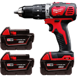 Milwaukee Milwaukee M18BPD 18V Li-Ion Cordless Compact Combi Drill 3 x 3.0Ah - 46845 - from Toolstation