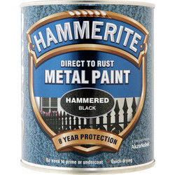 Hammerite Hammerite Metal Paint Hammered 750ml Black - 46862 - from Toolstation