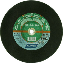 Norton Flat Stone Cutting Disc 300 x 3.5 x 20mm - 46878 - from Toolstation