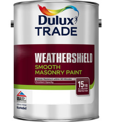 Dulux Trade Dulux Trade Weathershield Smooth Masonry Paint 5L Pure Brilliant White - 46892 - from Toolstation
