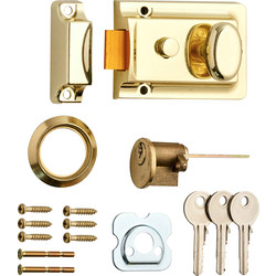 Traditional Nightlatch Brass Standard - 46986 - from Toolstation