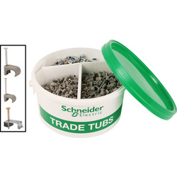 Schneider Schneider 18th Edition Twin & Earth Fixings Trade Tub - 47017 - from Toolstation
