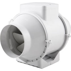 Xpelair Xpelair XIMX100 In-line Mixed Flow Extractor Fan Standard - 47057 - from Toolstation
