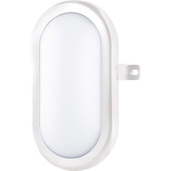 Luceco Luceco Eco LED Mini Oval Bulkhead IP54 5.5W 450lm White - 47092 - from Toolstation