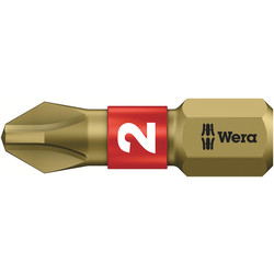 Wera Wera Gold Bi-Torsion Screwdriver Bit Phillips 2 x 25mm - 47147 - from Toolstation
