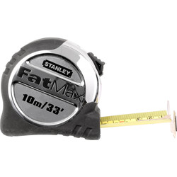 Stanley FatMax Stanley FatMax Pro Tape Measure 10m/33Ft - 47164 - from Toolstation