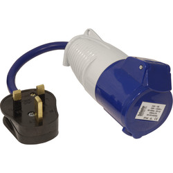 Fly Lead Socket Convertor 13A Lead to 16A Socket - 47166 - from Toolstation