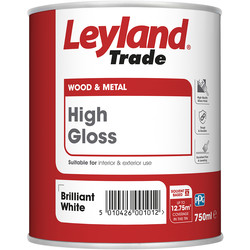 Leyland Trade Leyland Trade High Gloss Paint Brilliant White 750ml - 47201 - from Toolstation
