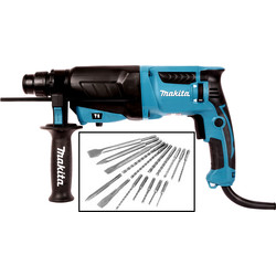 Makita Makita HR2630X12/2 SDS+ Rotary Hammer Drill 240V - 47280 - from Toolstation