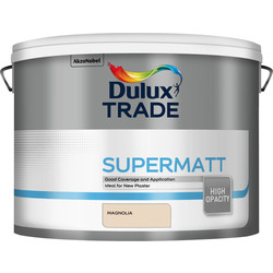 Dulux Trade Dulux Trade Supermatt Emulsion Paint 10L Magnolia - 47321 - from Toolstation