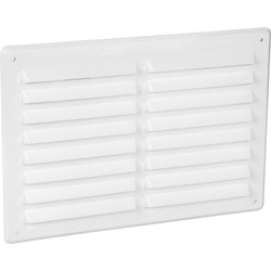 Louvre Vent Plastic White - 47334 - from Toolstation