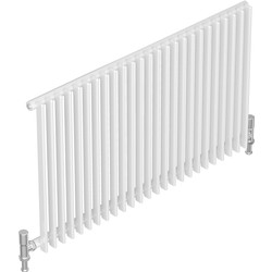 Tesni Gio 1 Column Horizontal Designer Radiator 600 x 980mm 2914Btu White