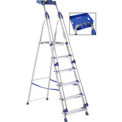 Werner Werner Work Station Step Ladder 6 Tread SWH 3m - 47454 - from Toolstation