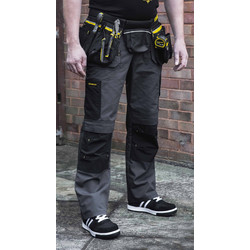 "Stanley Stanley Huntsville Holster Pocket Trousers 34"" R Grey - 47456 - from Toolstation"