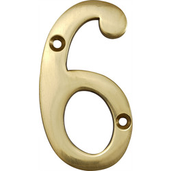 Brass Numeral 75mm 6, 9