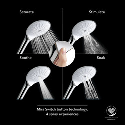 Mira Switch 4 Function Showerhead Handset