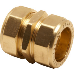 Pegler Yorkshire Pegler Prestex Compression Straight Coupler 15mm - 47520 - from Toolstation