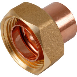 End Feed Straight Cylinder Union 22mm
