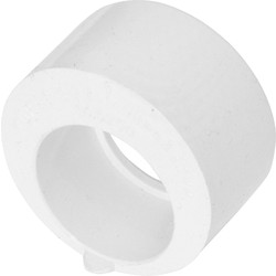 Aquaflow Solvent Weld Overflow Reducer 21.5 x 40mm White - 47692 - from Toolstation