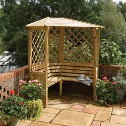 Rowlinson Rowlinson Balmoral Corner Arbour 210cm (h) x 158cm (w) x 158cm (d) - 47735 - from Toolstation